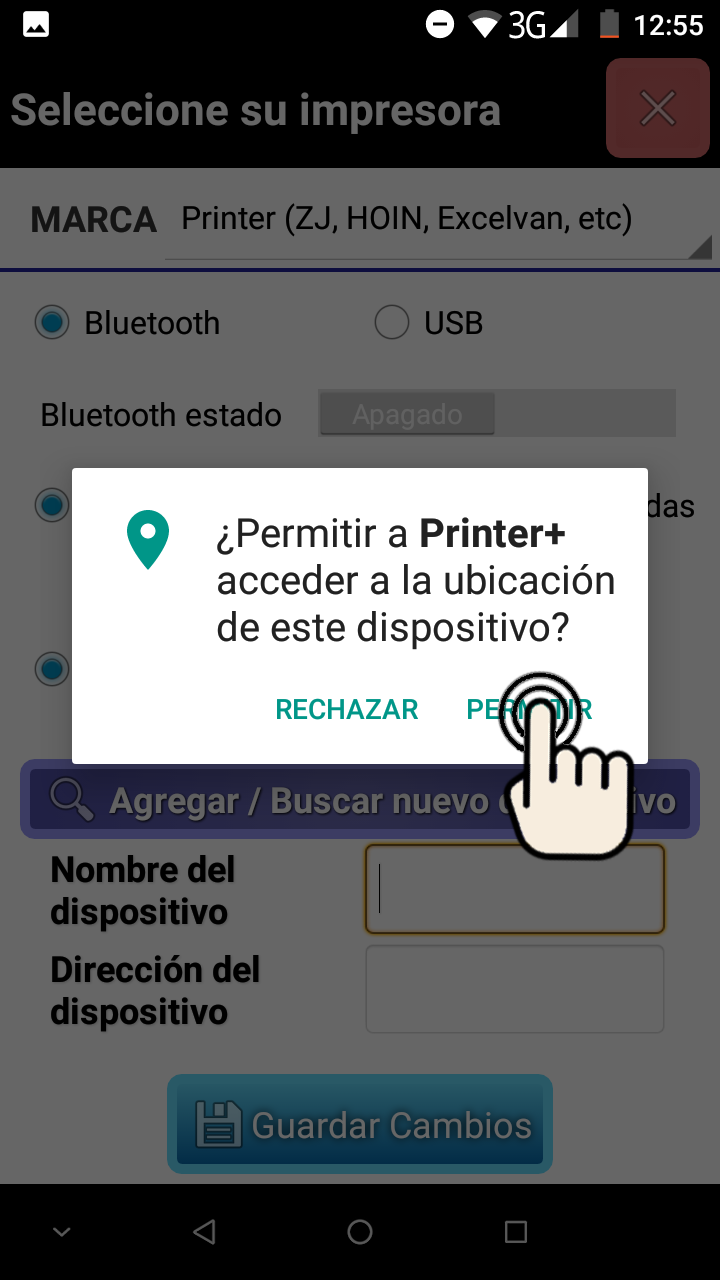 We give permission to the location if we will use a bluetooth printer